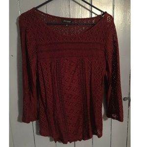 Lucky Brand Maroon Top
